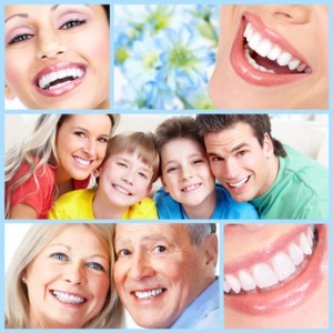 Smiling happy people with healthy teeth. Dental health. Collage Mundhygiene © Christoph Hähnel - Fotolia.com